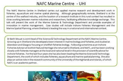 ERI External Seminar – Marine Sciences in Shetland: Rural, but not Remote!
