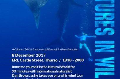 Cancelled -ERI External Seminar – Adventures in Wildlife, 8th Dec 17